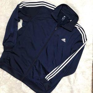 Adidas Navy Blue Zip Up Jacket Sweater